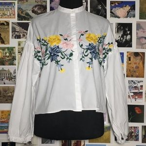 ZARA Embroidered Top (SMALL)